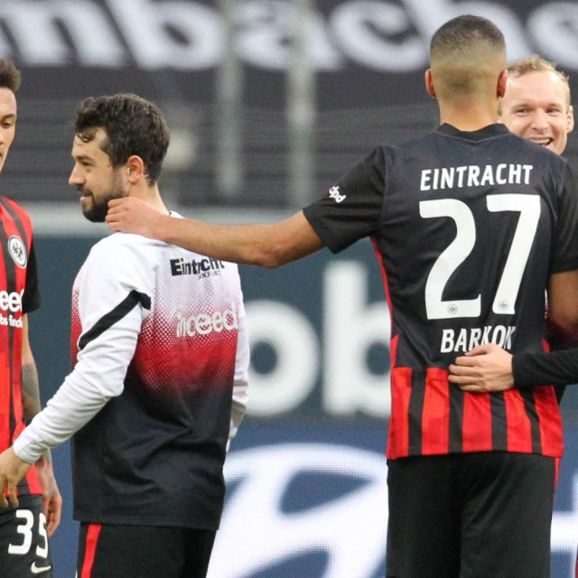 Slavlje igrača iz Frankfurta