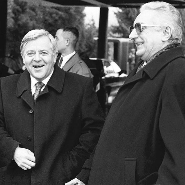 Franjo Tuđman i Milan Kučan