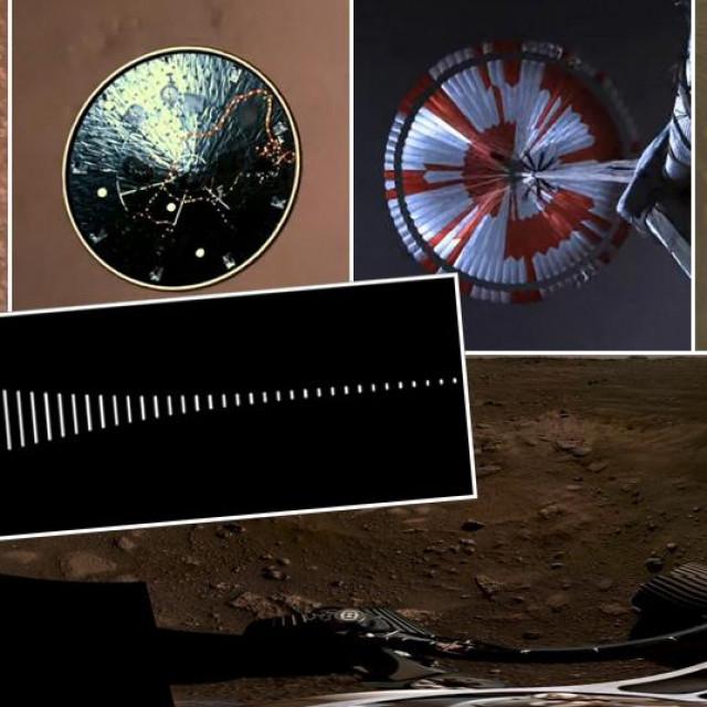 Prizori slijetanja rovera na Mars