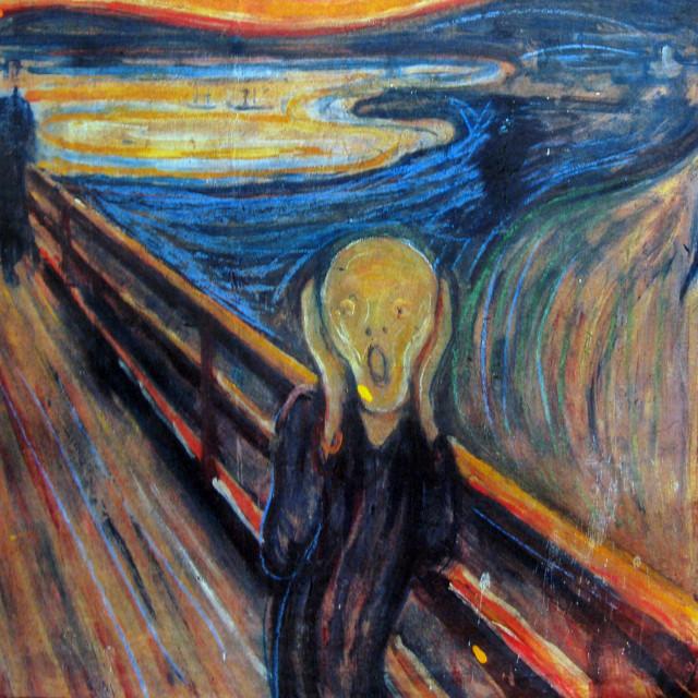 """Jedna od 4 verzije slike """"Krik"""" Edvarda Muncha"""