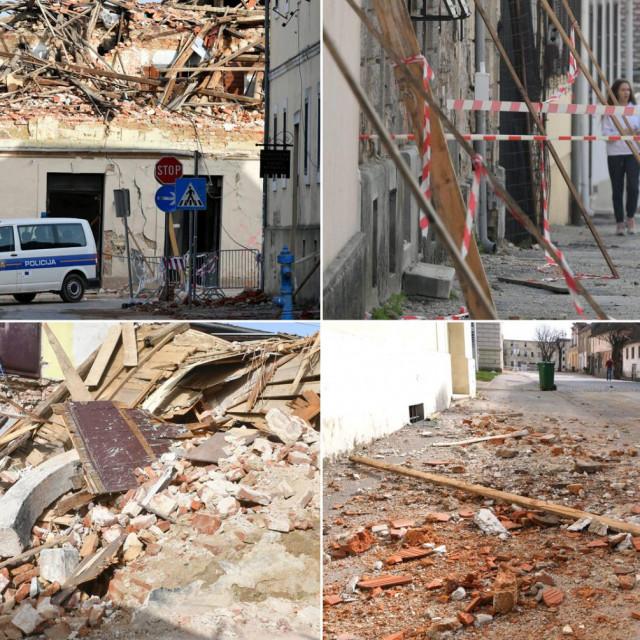 Petrinja nakon potresa u srijedu