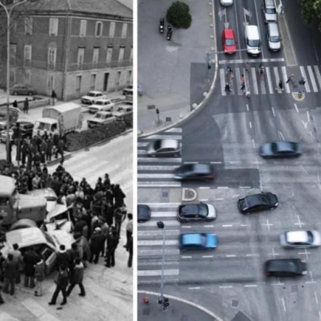 Opasno raskrižje Ulice Domovinskog rata, Ulice slobode i Ulice Hrvatske mornarice kod kafića 'Krom'