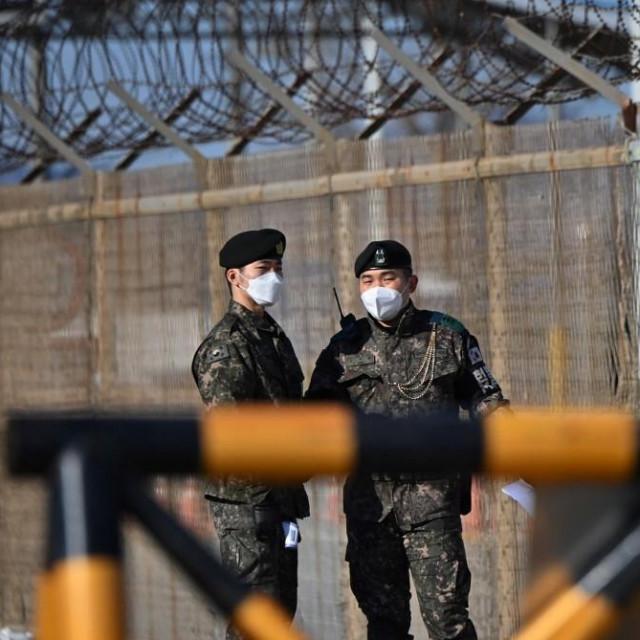 Sjevernokorejski vojnici u području demilitarizirane zone DMZ