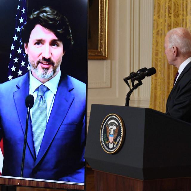 Joe Biden nakon virtualnog sastanka s Trudeauom