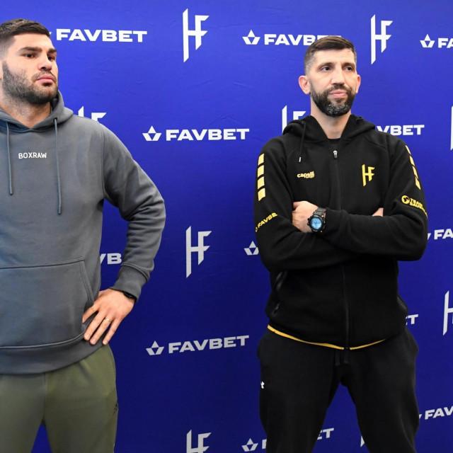 Filip Hrgović i trener Yousef Hasan