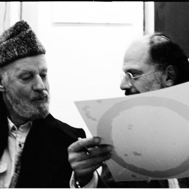 Lawrence Ferlinghetti i Allen Ginsberg u Parizu 1982.