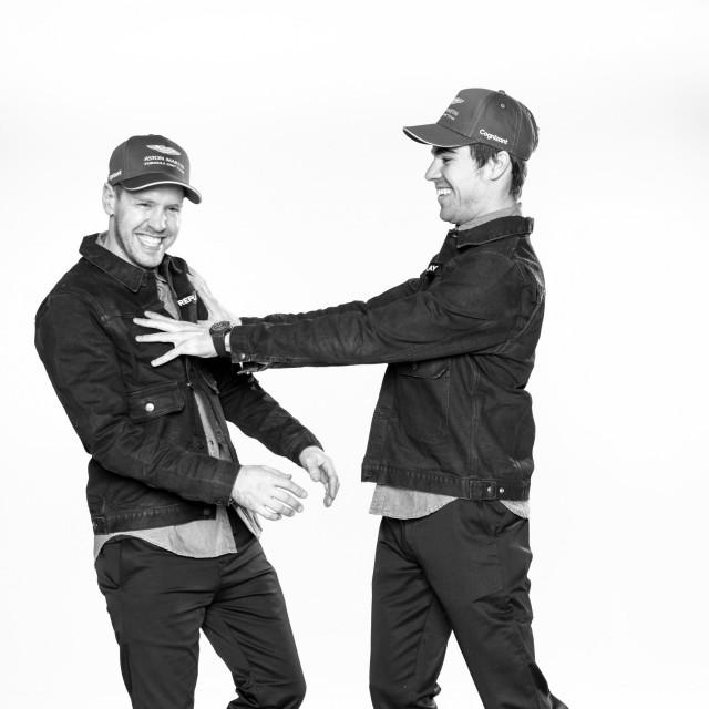 Sebastian Vettel i Lance Stroll.