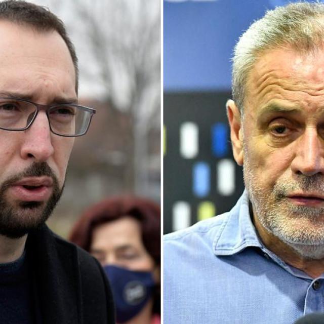 Tomislav Tomašević i Milan Bandić
