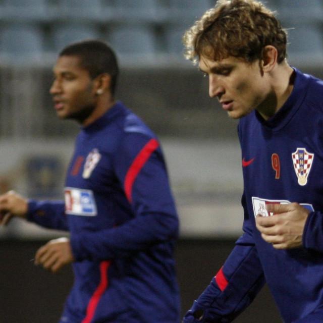 Jelavić i Sammir dok su zajedno bili na treningu hrvatske reprezentacije
