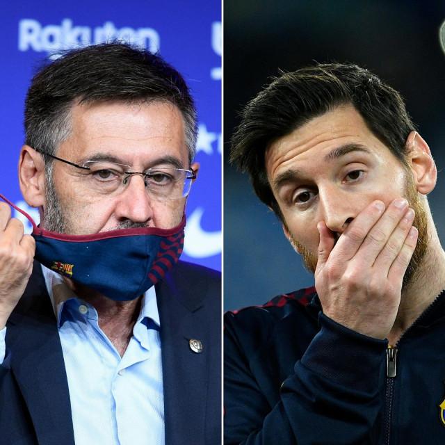 Josep Maria Bartomeu i Leo Messi