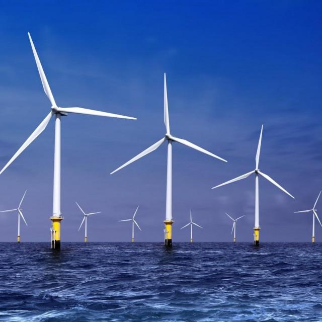 Vjetroelektrane na moru ilustracija