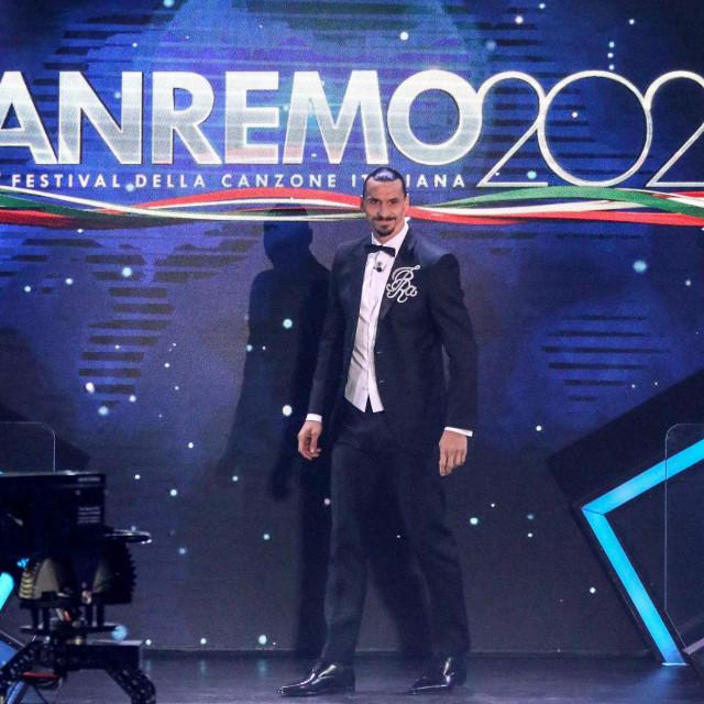 Zlatan Ibrahimović na otvorenju San Rema 2021.