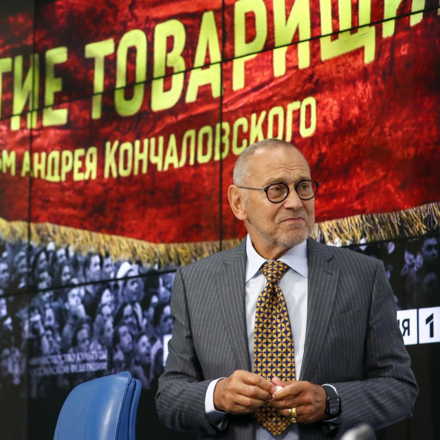 "MOSCOW, RUSSIA - NOVEMBER 9, 2020: Film director Andrei Konchalovsky takes part in a press conference on his latest film titled ""Dear Comrades!"" held online at the Moscow office of the TASS news agency. Anton Novoderezhkin/TASS,Image: 568119549, License: Rights-managed, Restrictions:, Model Release: no, Credit line: Anton Novoderezhkin/TASS/Profimedia"