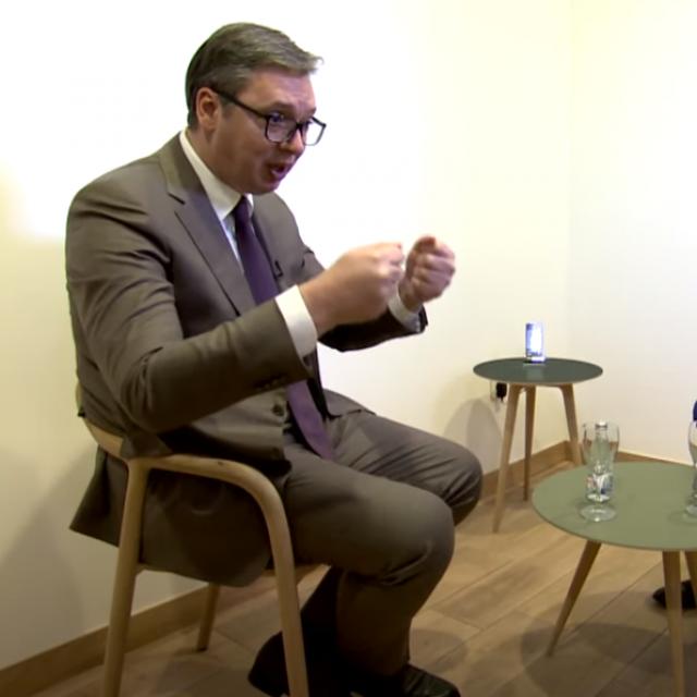 Aleksandar Vučić i Senad Hadžifejzović