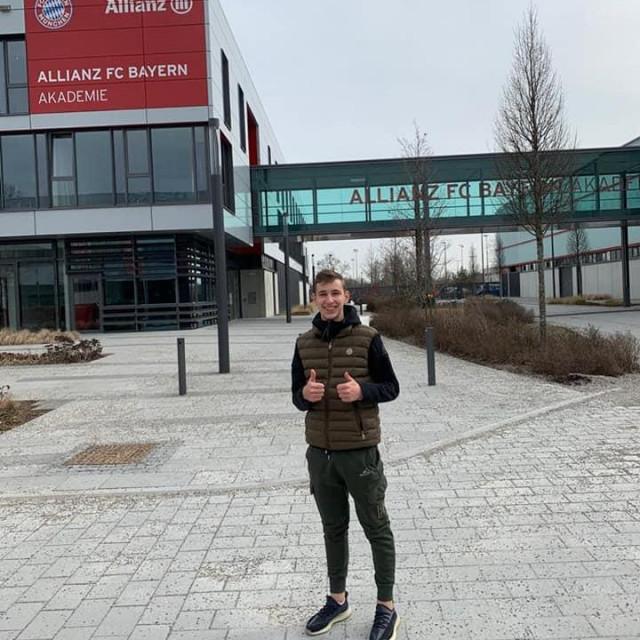 Lovro Zvonarek u Bayernovom trening centru