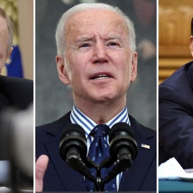 Vladimir Putin, Joe Biden, Xi Jinping
