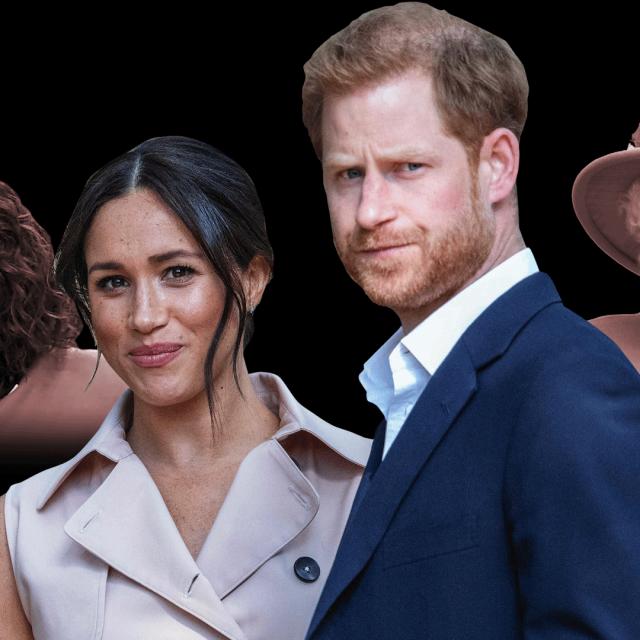 Oprah Winfrey, Meghan Markle, princ Harry i kraljica Elizabeta II.