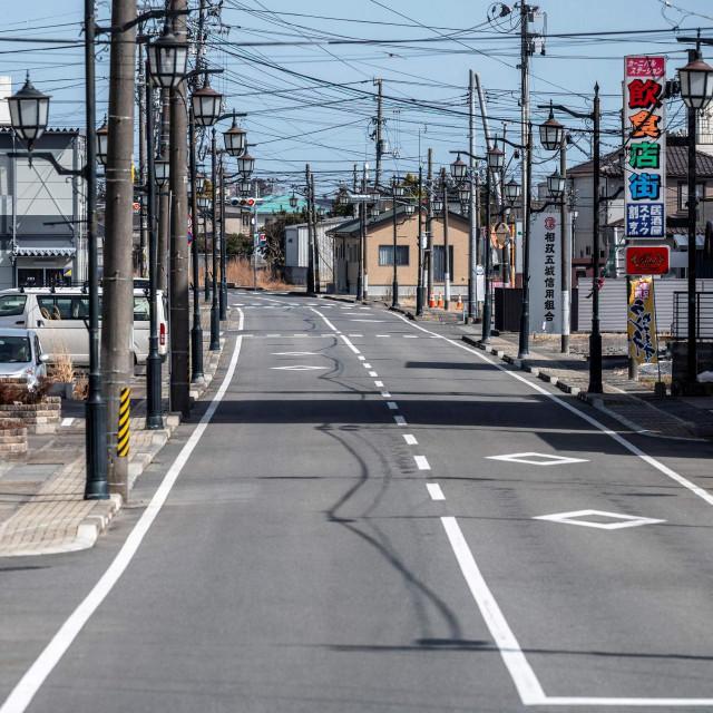 Glavna ulica u mjestu Namie u prefekturi Fukushima
