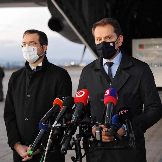 Premijer Igor Matovič i ministar zdravstva Marek Krajci