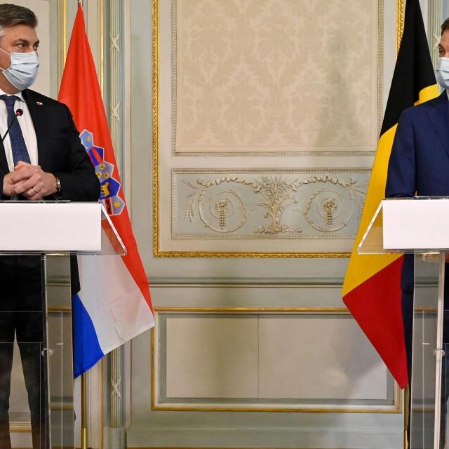 Premijer Andrej Plenković s belgijskim premijerom Alexanderom De Croom
