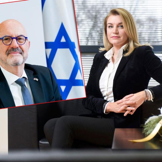 Izraelski veleposlanik Ilan Mor i ministrica turizma Nikolina Brnjac
