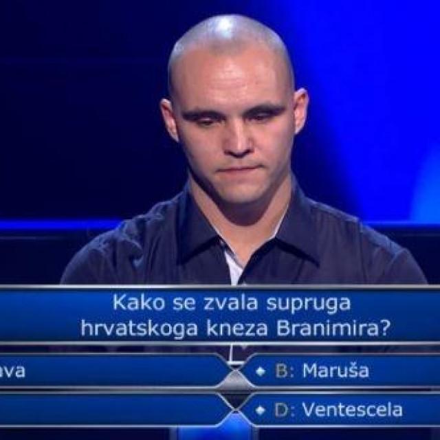 """Tomislav Horvatić u kvizu """"Tko želi biti milijunaš"""""""