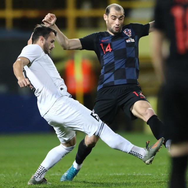 Mile Škorić u dresu Hrvatske protiv Gruzije (prijateljska)