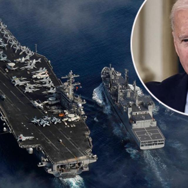 Nosač aviona USS Carl Vinson i Joe Biden u krugu