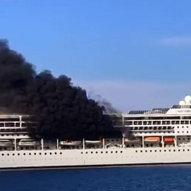 Požar na kruzeru MSC Lirica