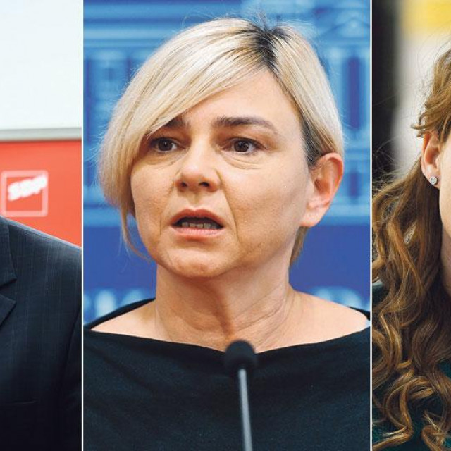 Peđa Grbin, Sandra Benčić, Marija Selak Raspudić