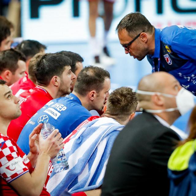 Hrvoje Horvat tijekom utakmice protiv Tunisa