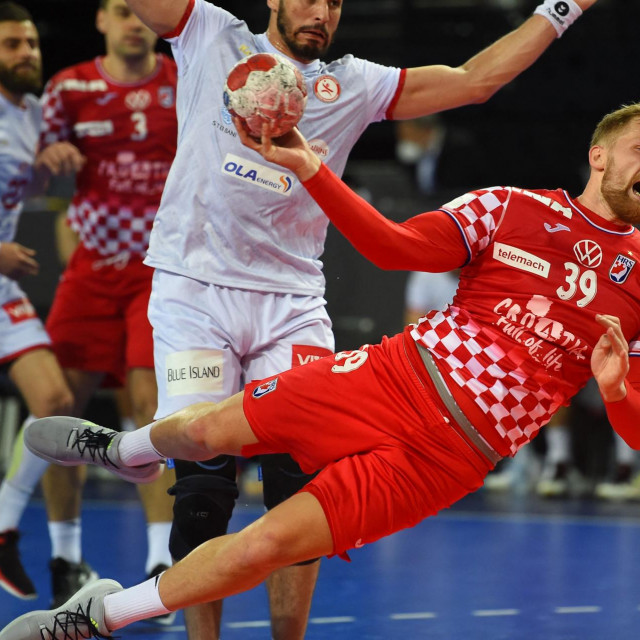 Domagoj Pavlović u akciji protiv Tunisa