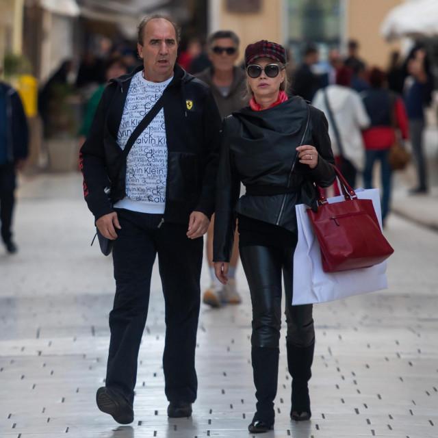 Grdović i Branka u šetnji Zadrom krajem 2020.