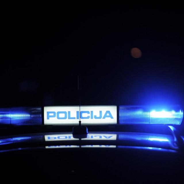 Policija rotirka ilustracija