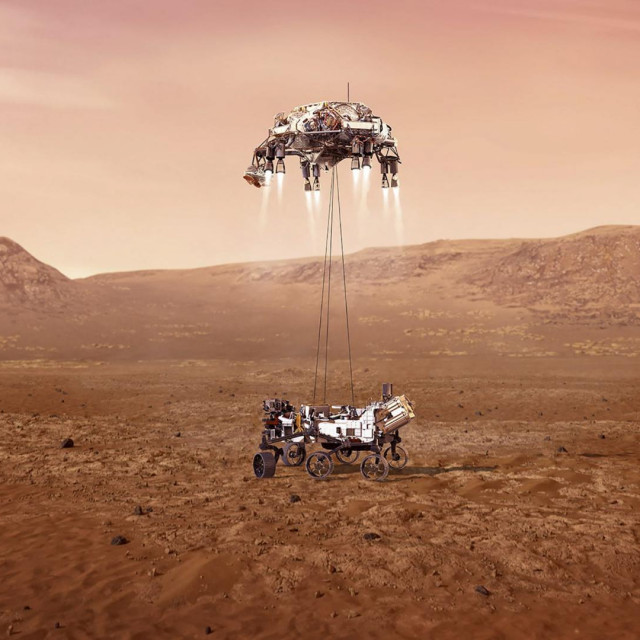 Rover Perseverance na Marsu