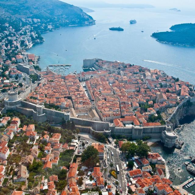 Panorama grada Dubrovnika iz zraka