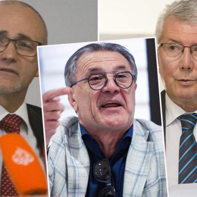 Darko Krušlin, Zdravko Mamić i Zvonko Vekić