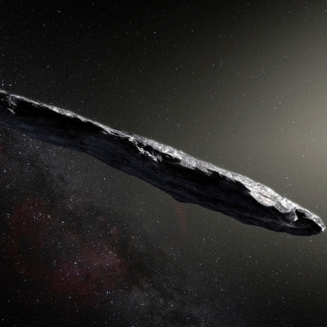 Oumuamua, ilustracija