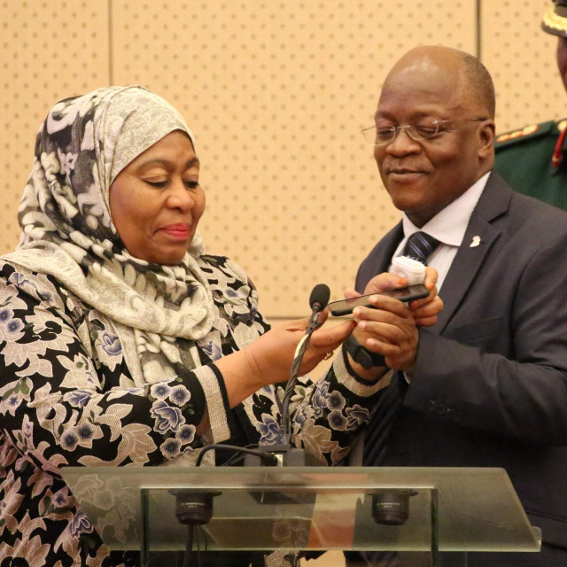 Samia Hassan Suluhu i John Magufuli