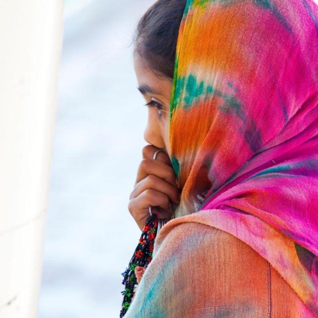 Pakistanska djevojčica; ilustracija
