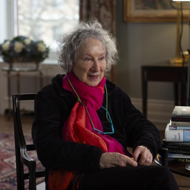 Margaret Atwood snimljena u klubu York u Torontu 2019. godine<br />