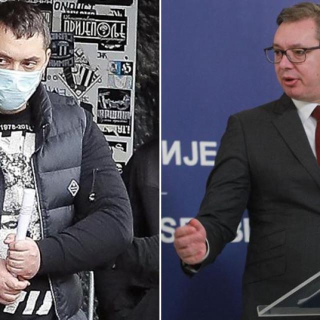 Veljko Belivuk (poznat kao Velja Nevolja) i Aleksandar Vučić