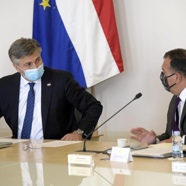 Andrej Plenković i Vili Beroš