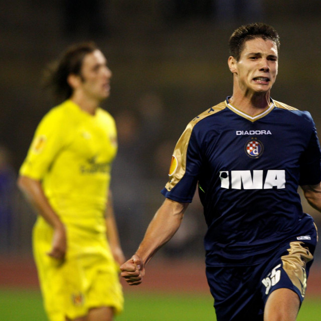 Ante Rukavina slavi nakon gola za Dinamo