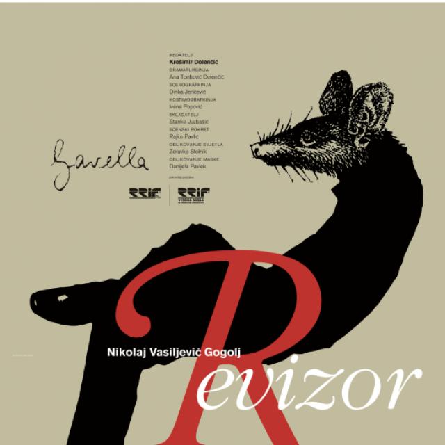 Plakat Vanje Cuculića, uz predstavu Revizor
