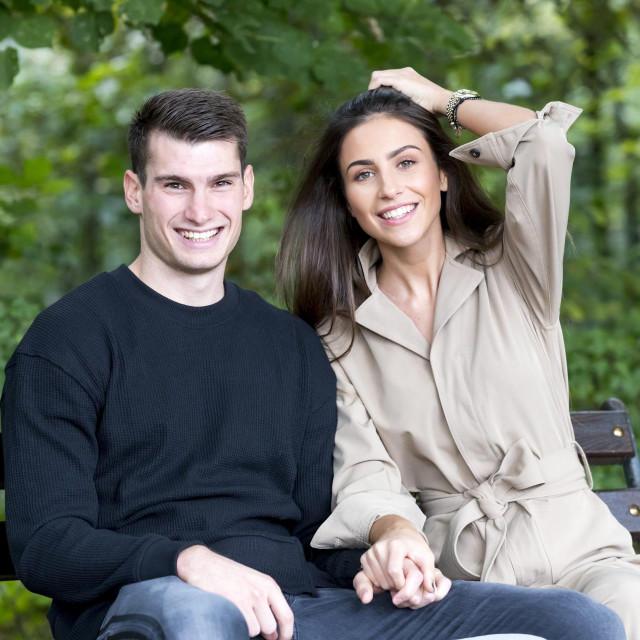 Dinamov vratar Dominik Livaković s djevojkom Helenom Matić