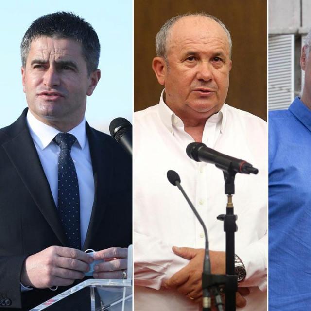 Vice Mihanović, Željko Kerum,Ivica Puljaki Branka Ramljak