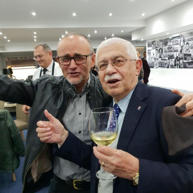 Darko Krušlin i Adolf Kožul u VIP loži Maksimira