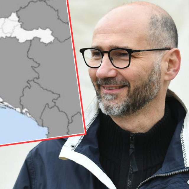 """Joško Klisović i """"karta Hrvatske"""" koju je njegov izborni stožer posalo članovima zagrebačkog SDP-a"""