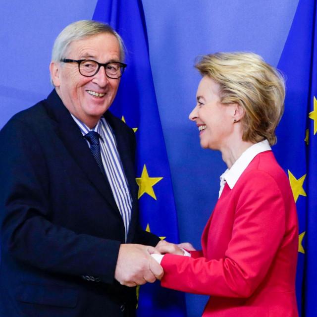 Jean-Claude Juncker i Ursula von der Leyen